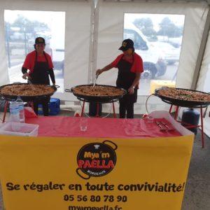 Paella Royale en cuisson sur place